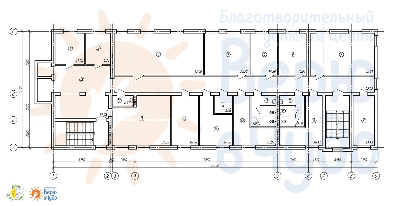 Медико-административное здание. 3 этаж